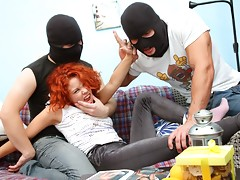 This thief tale is one of debauchery and dreadful deeds! Masha wasn't expecting this sort of treatment at the hands of her assailants, but once it happens she can't get enough of them!video