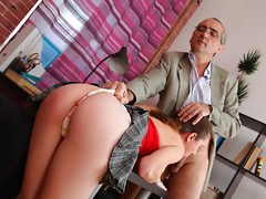 He loves to wank his cock over those lovely little titties after fucking Arina nice and hard. She's just an inexperienced young girl, but when he's finished with her she'll fuck like a hooker!video