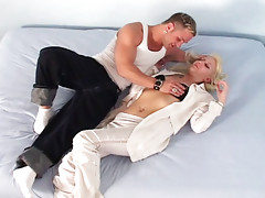 Hot dude being sucked finally fuck this nice blonde chick!video