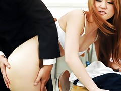 Sakamoto Hikari teases her teacher with her supple bodyvideo