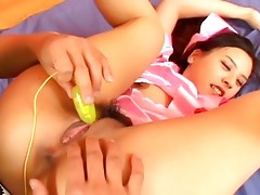 Sweet and shy Japanese teen fucked hard by two mensvideo