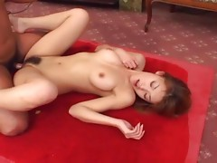 Sultry and sexy Sakura Sakurada gets pussy pounded by an older man. She loves to squirm and scream in ecstasy.video