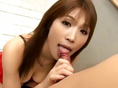 Finally, I can watch Ai Kurosawa as kinky schoolgirl blowing her teacher! She've put extremely sexy lingerie, hot enough to give her a better degree after her fail at test. Everything happens in clasroom so you watch her gentle ass puashed against desk on which she usually writes while her hairy pussy gets solid and tough fucking! Get the full video to see whole cosplay action!video
